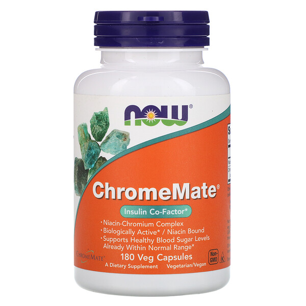 Now Foods, ChromeMate, 180 капсул (Discontinued Item)