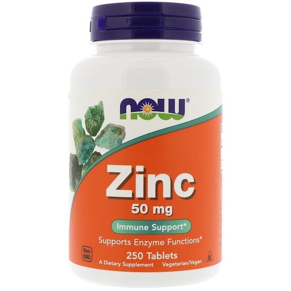 Цинк, 50 мг, 250 таблеток