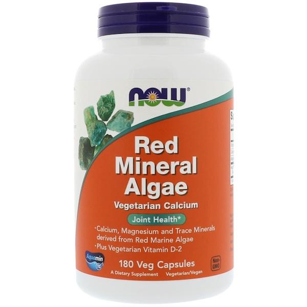 Now Foods, Минеральные вещества из красных водорослей, 180 растительных капсул