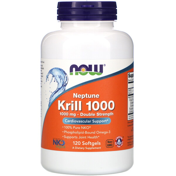 Криль Neptune 1000, 1000 мг, 120 мягких желатиновых капсул