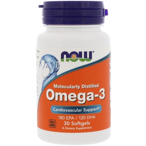 Омега-3, Молекулярная дистилляция, 30 капсул