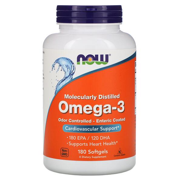 Омега-3, 180 мягких желатиновых капсул