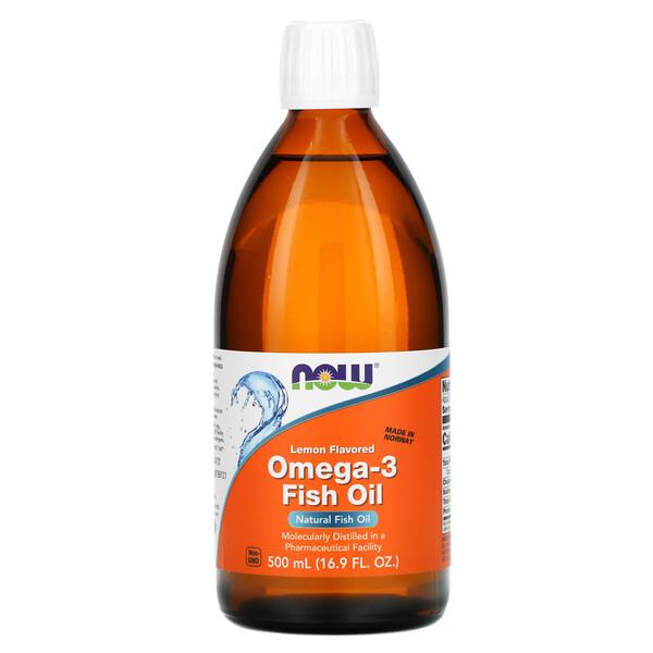 Омега-3 рыбий жир, с запахом лимона, 500 мл