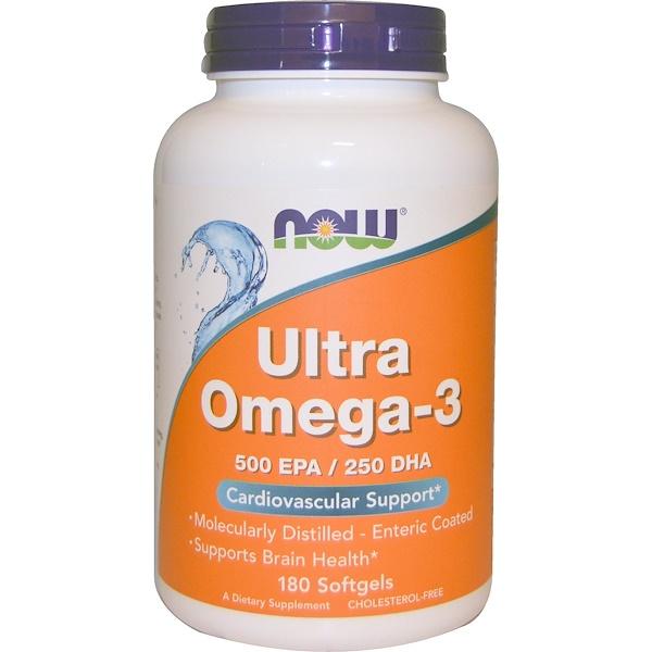 Ультра омега-3, 180 мягких желатиновых капсул