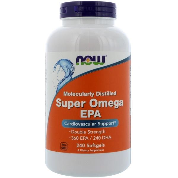 Now Foods, ЭПК Super Omega, очищенная на молекулярном уровне, 240 мягких таблеток