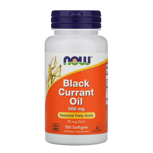 Масло чёрной смородины, 500 мг, 100 желатиновых капсул