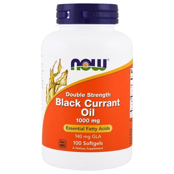 Масло из семян черной смородины, 1000 мг, 100 мягких желатиновых капсул