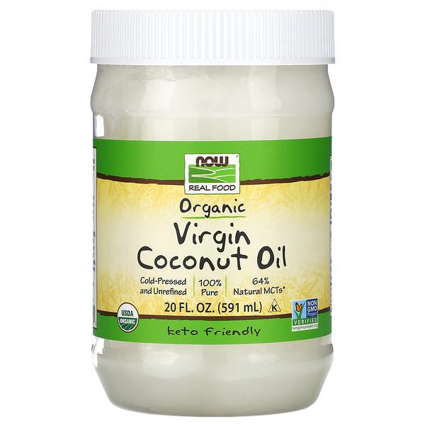 Органическое натуральное кокосовое масло, 20 жидких унций (591 мл)