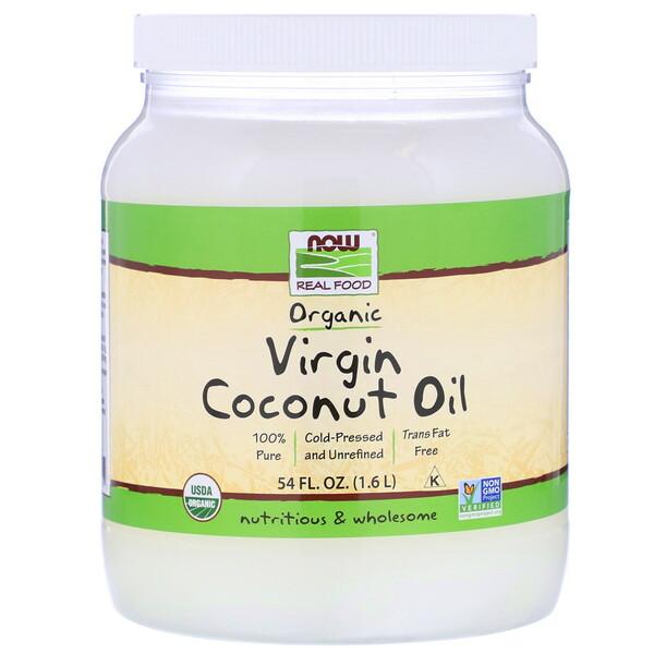 Real Food, органическое натуральное кокосовое масло, 1,6 л (54 жидких унции)