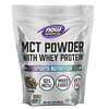 Now Foods, Sports, MCT Powder with Whey Protein, Chocolate Mocha, 1 lb (454 g)
