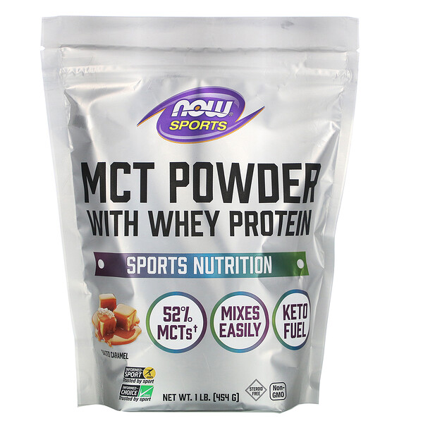 Sports, MCT Powder with Whey Protein, Salted Caramel, 1 lb (454 g)