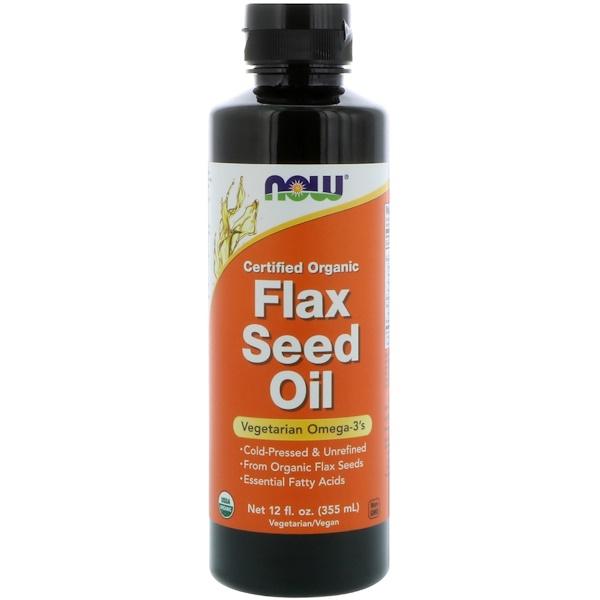 Сертифицированное органическое льняное масло, 355 мл (12 жидких унций)