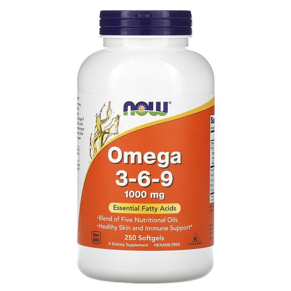 омега3-6-9, 1000мг, 250мягких таблеток