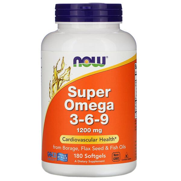 Super Omega 3-6-9, 1,200 mg, 180 Softgels