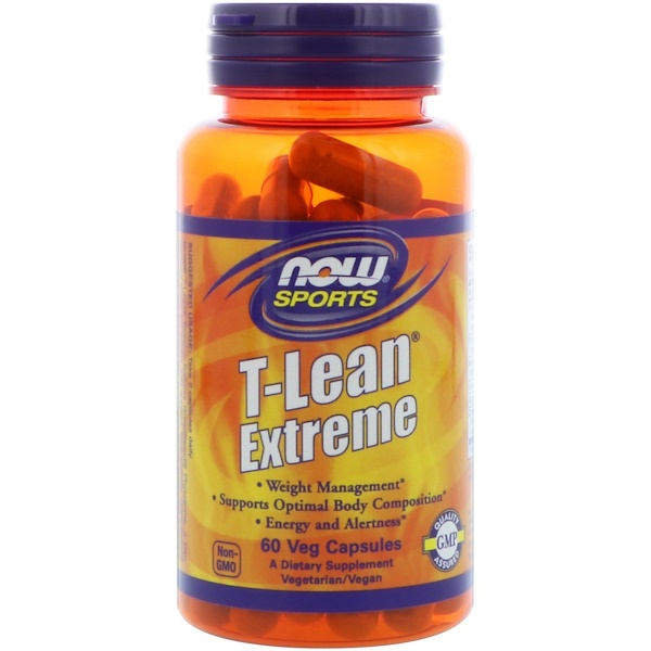 Now Foods, Sports, T-Lean Extreme, 60 Veg Capsules (Discontinued Item)