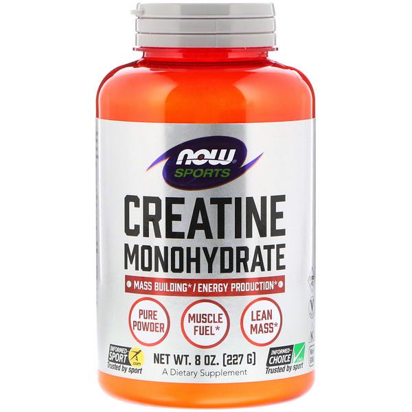 Питание для физической активности, моногидрат креатина, чистый порошок, 227 г (8 унций)