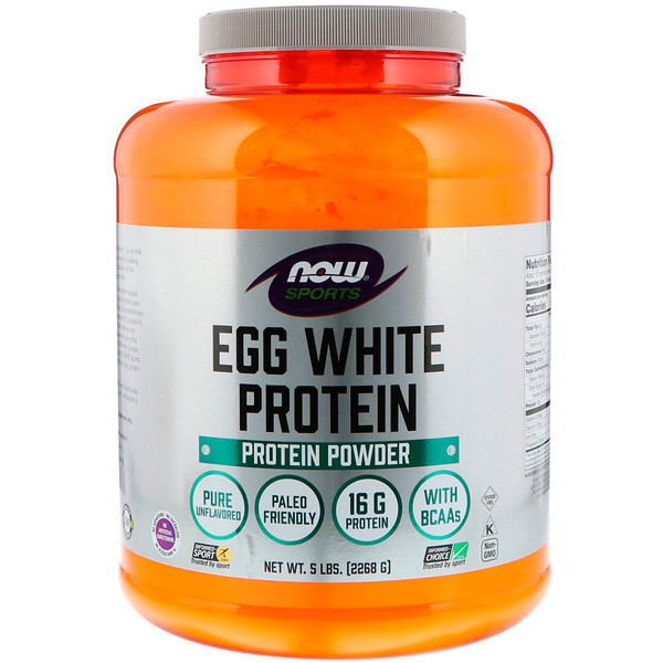 Sports, порошковый протеин яичного белка Egg White Protein Powder, 5 фунтов (2268 г)