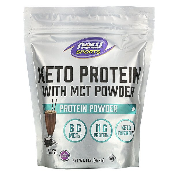 Sports, Keto Protein with MCT Powder, Creamy Chocolate, 1 lb (454 g)