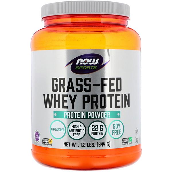 Now Foods, Экологически чистый концентрат сывороточного протеина, без вкусовых добавок, 544г (1,2фунта)