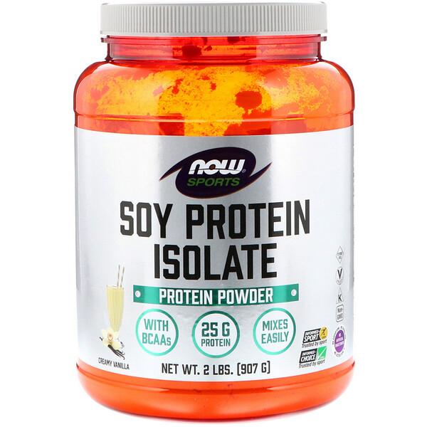 Sports, изолят соевого белка со вкусом сливочной ванили, 907 г (2 фунта)
