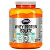 Now Foods, Sports, изолят сывороточного протеина, кремовая ваниль, 2268г