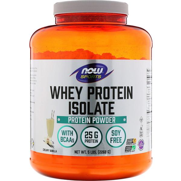 Sports, изолят сывороточного протеина, кремовая ваниль, 2268г
