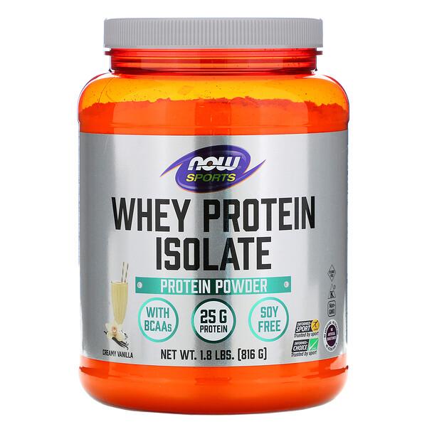 Изолят сывороточного белка, со вкусом натуральной ванили, 1.8 фунтов (816 г)