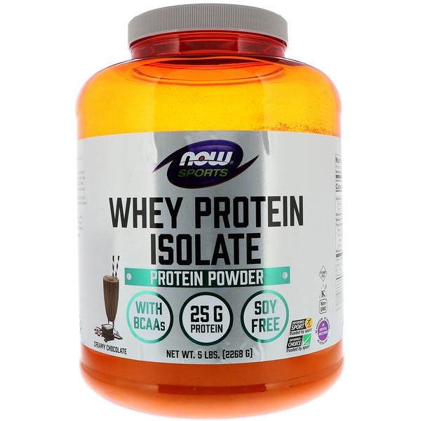 Sports, изолят сывороточного протеина, кремовый шоколад, 2268г