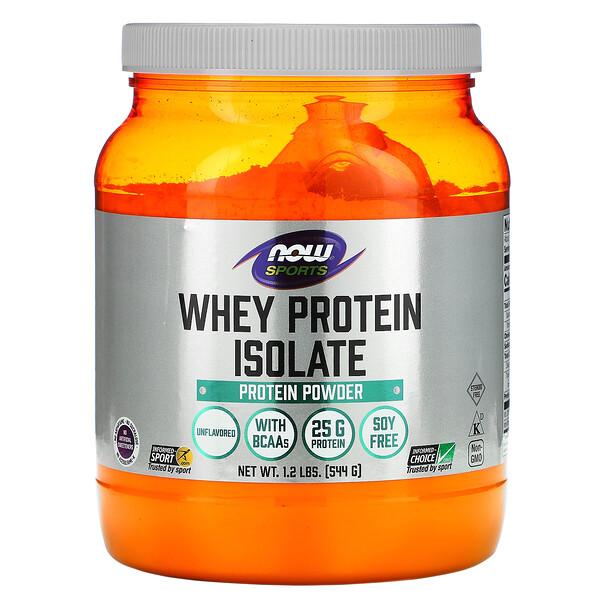 Sports, изолят сывороточного протеина, без добавок, 544г