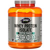 Now Foods, Sports, Whey Protein Isolate, без ароматизаторов, 5 фунтов (2268 г)