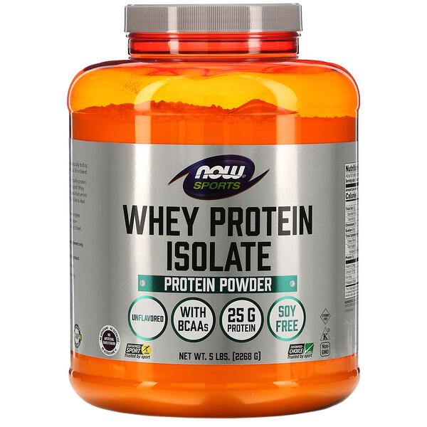 Sports, Whey Protein Isolate, без ароматизаторов, 5 фунтов (2268 г)