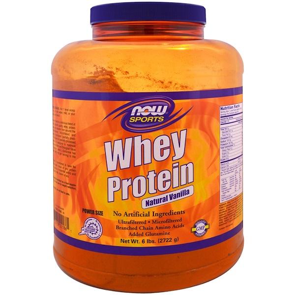 Now Foods, Сывороточный протеин, натуральная ваниль, 6 фунтов (2722 г) (Discontinued Item)