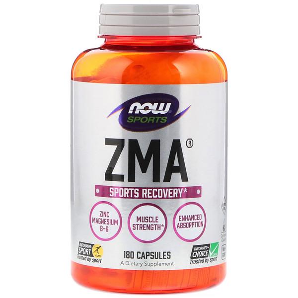 Спортивная серия, ZMA, восстановление после занятий спортом, 180 капсул
