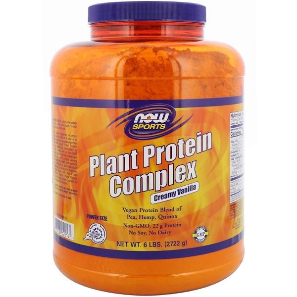 Sports, комплекс растительного протеина, кремовая ваниль, 2722г (6 фунтов)