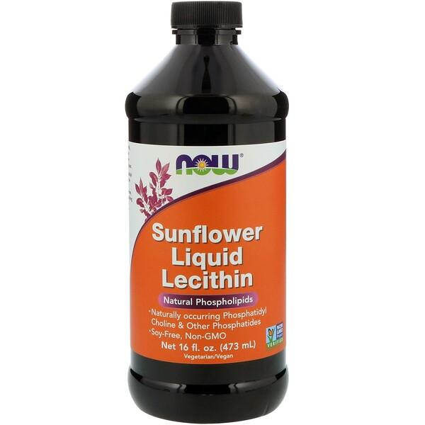 Жидкий лецитин из подсолнечника, 16 жидких унций (473 мл)