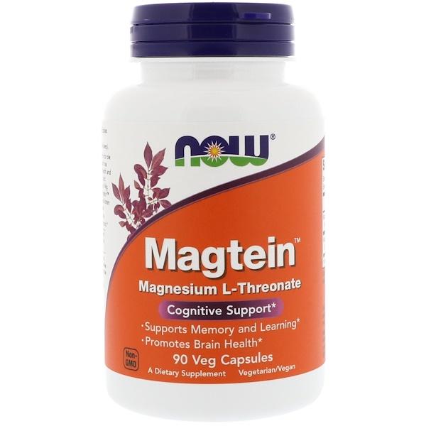 Magtein, магния L-треонат, 90 вегетарианских капсул
