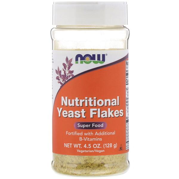 Now Foods, Пищевые дрожжи в хлопьях, 128г (4,5унции)