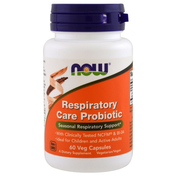 пробиотики для укрепления органов дыхания, 60 растительных капсул