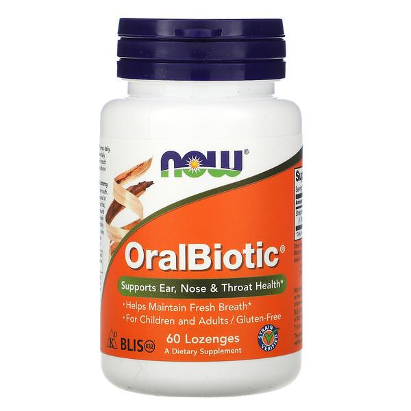 Now Foods, OralBiotic, 60пастилок