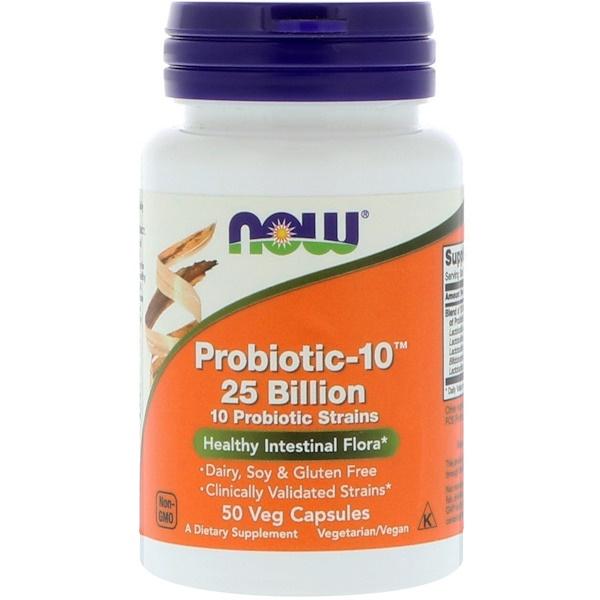 Probiotic-10, 25 млрд, 50 растительных капсул