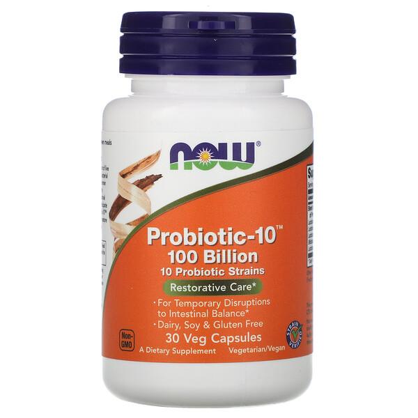 Probiotic-10, восстановление, 100млрд, 30растительных капсул