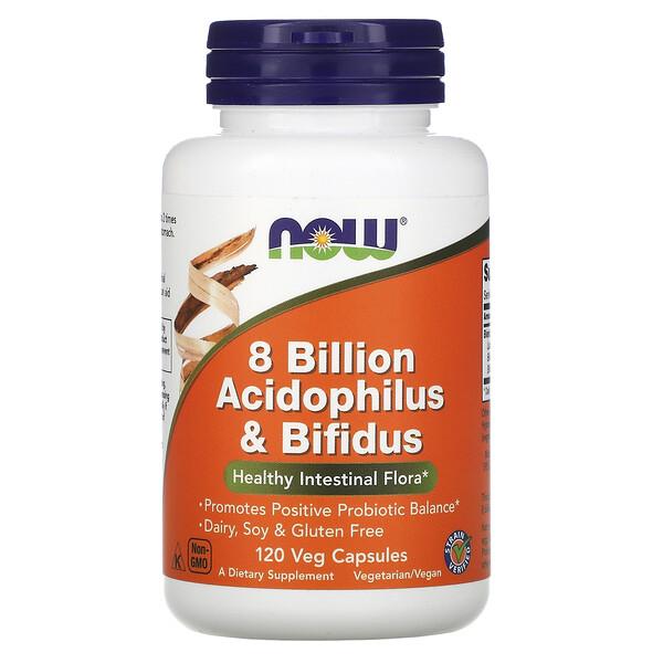 8 млрд ацидофильных и бифидобактерий, 120 растительных капсул