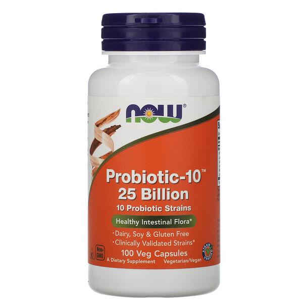 Probiotic-10, 25 млрд, 100 растительных капсул
