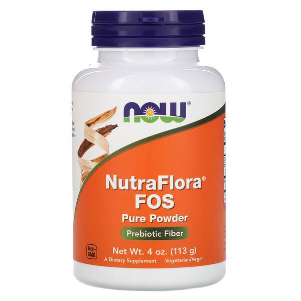 NutraFlora ФОС, чистый порошок, 113 г (4 унции)