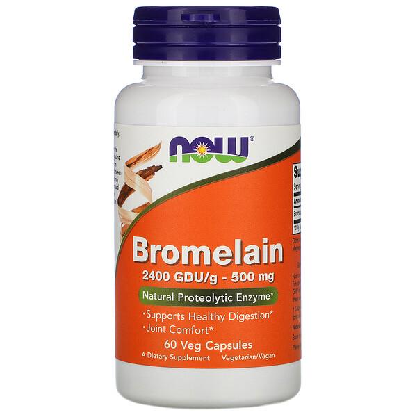 Bromelain, 500 мг, 60 растительных капсул