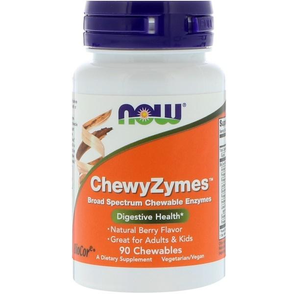 ChewyZymes, натуральный ягодный вкус, 90 жевательных таблеток