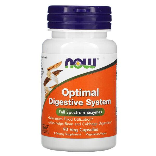 Now Foods, Optimal Digestive System, 90 растительных капсул