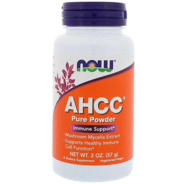 Now Foods, AHCC, чистый порошок, 57 г (2 унции) (Discontinued Item)