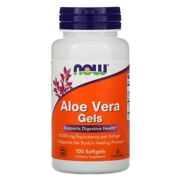 Aloe Vera Gels, 100 мягких желатиновых капсул