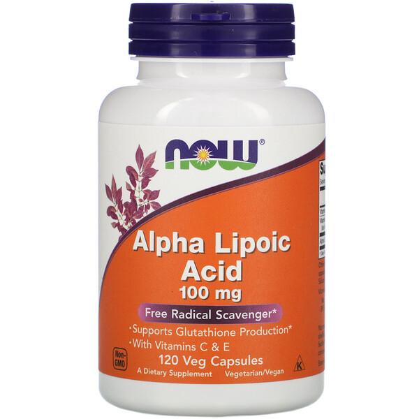 Альфа-липоевая кислота, 100 мг, 120 вегетарианских капсул